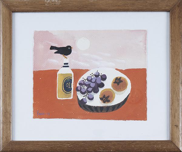 mary-fedden-blackbird-gouache-frame