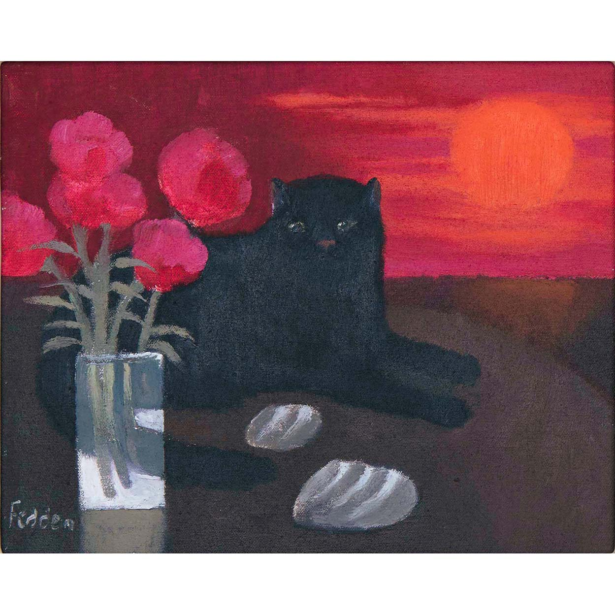 MARY FEDDEN. CAT IN THE SUNSET. 2001
