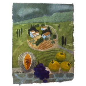 Mary Fedden. French landscape.