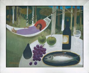MARY FEDDEN. GIRL IN HAMMOCK.