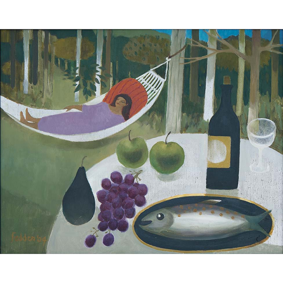 MARY FEDDEN. GIRL IN HAMMOCK. 2004