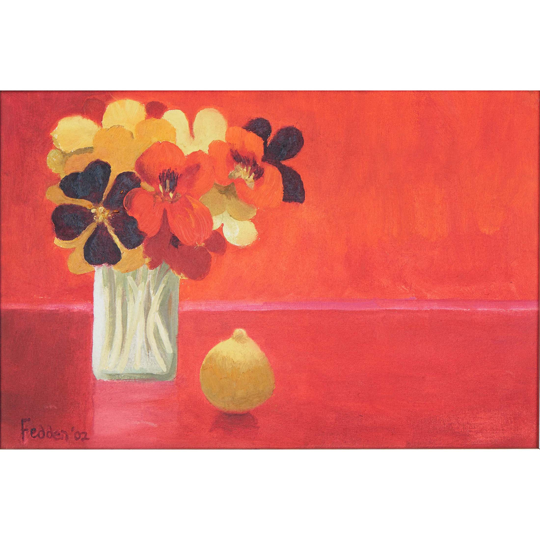 MARY FEDDEN. NASTURTIUMS. 2002. SOLD