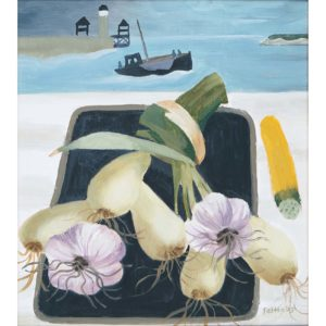 Mary Fedden. Onions and garlic.