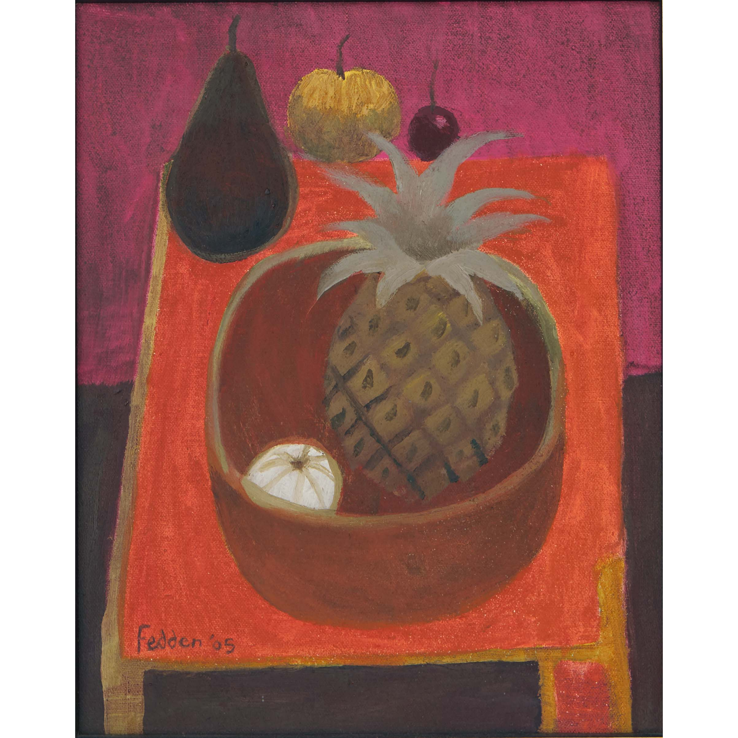 MARY FEDDEN. PINEAPPLE. 2005. SOLD
