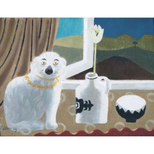 Mary Fedden. Staffordshire dog.