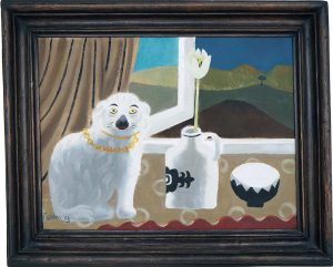 Mary Fedden. Staffordshire dog.