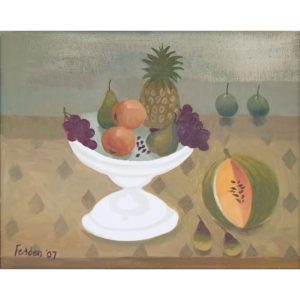 Mary Fedden. The white dish.