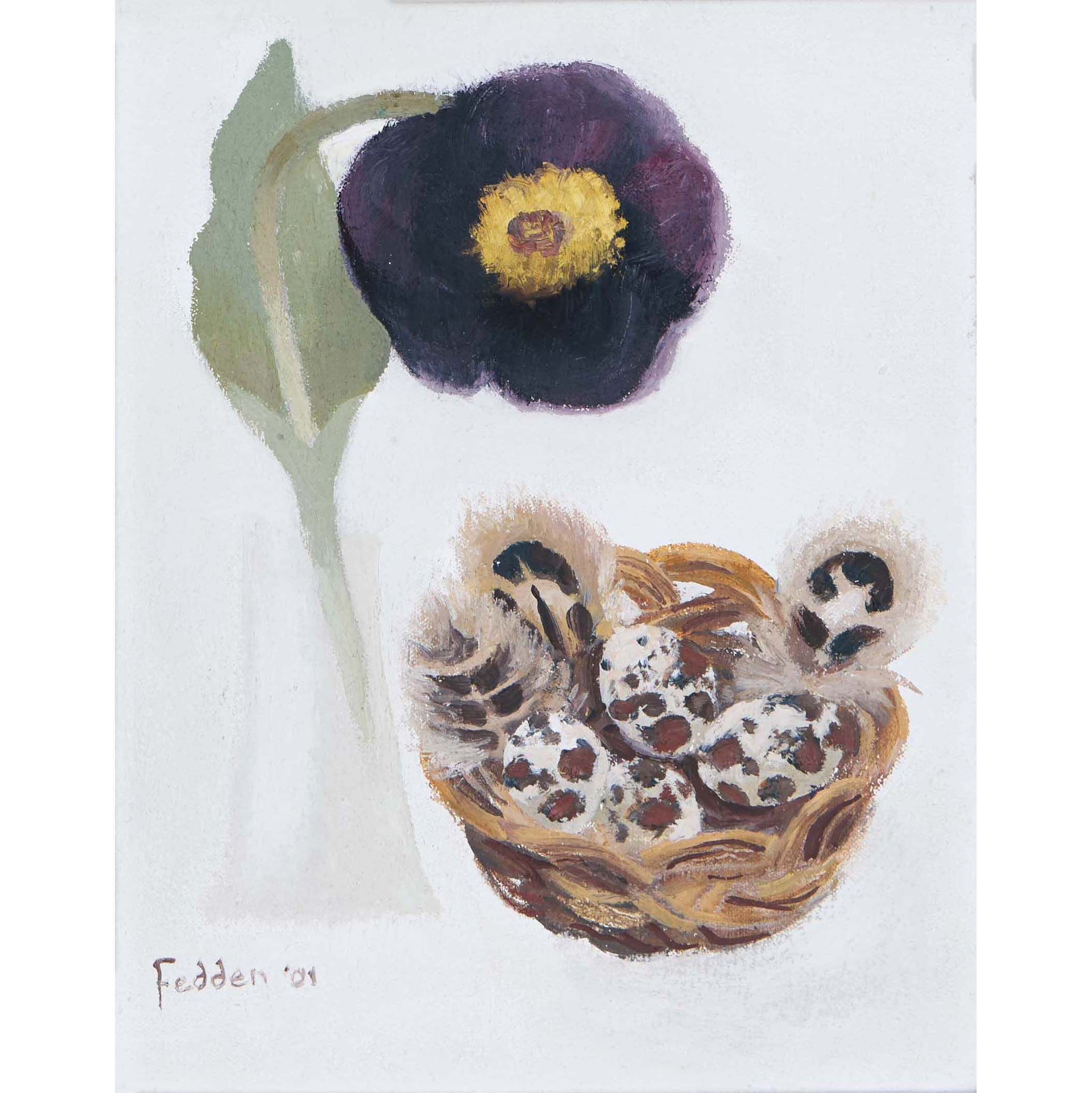MARY FEDDEN. TULIP AND EGGS. 2001. SOLD