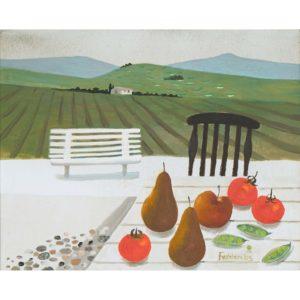 Mary Fedden. Tuscan landscape.